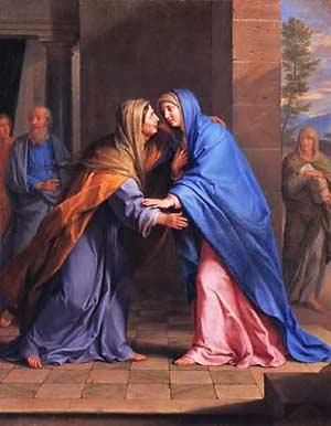 Elizabeth greets Mary